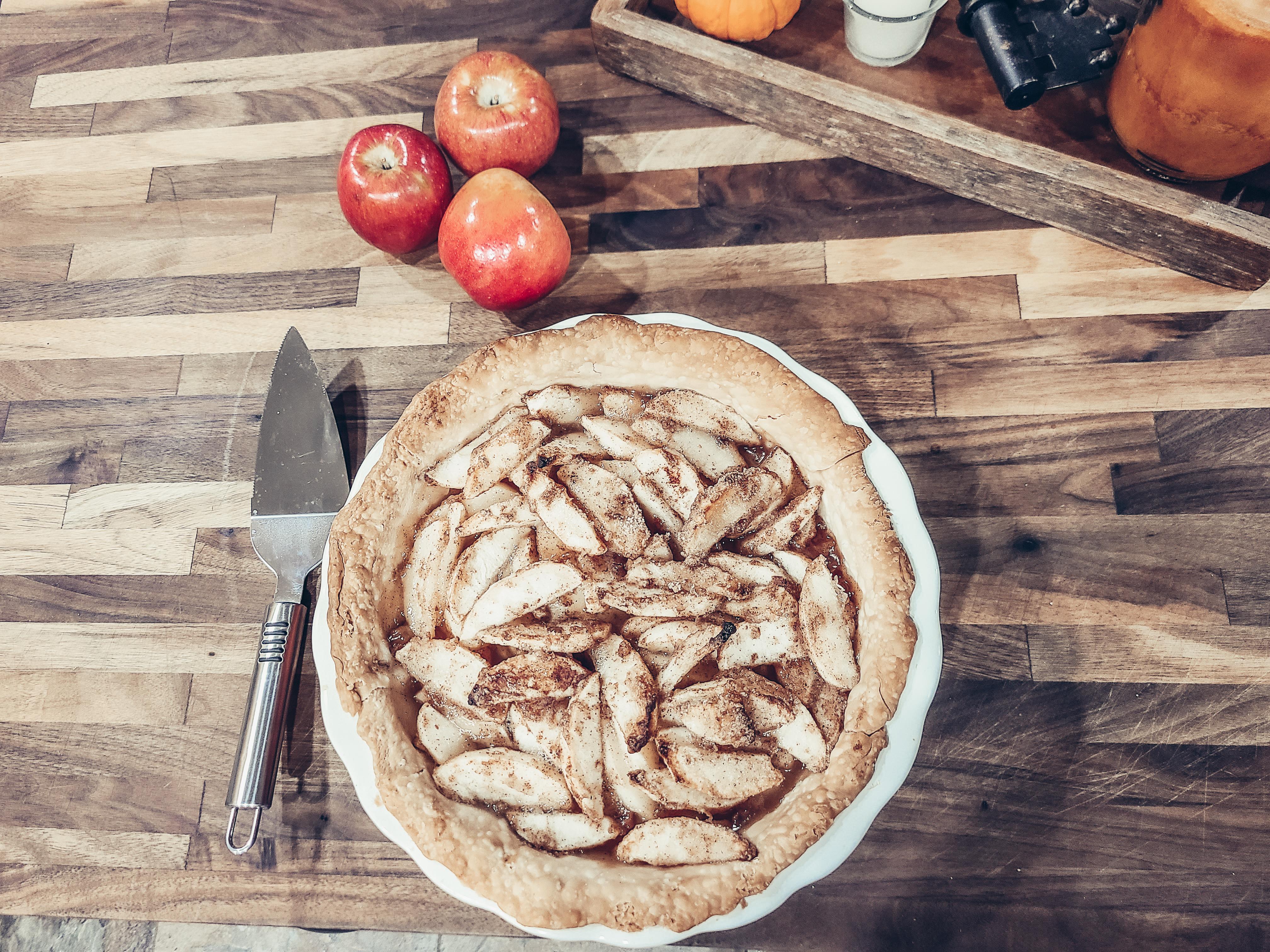 Easy Open Faced Apple Pie